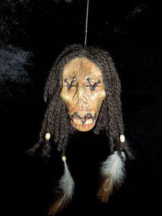 a clay head Voodoo head Voodoo Halloween, Theme Halloween, Halloween 2016, Swamp Theme, Voodoo Priestess, Shrunken Head, Witch Doctor, Voodoo Dolls, Dark Gothic