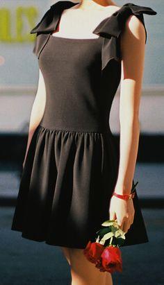 Retro black dress