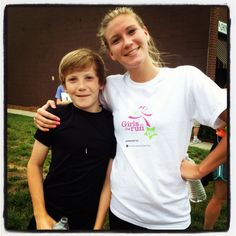 Finished a 5k with my little brother !    Check out Girls on the Run, great cause.    http://www.girlsontherun.org/