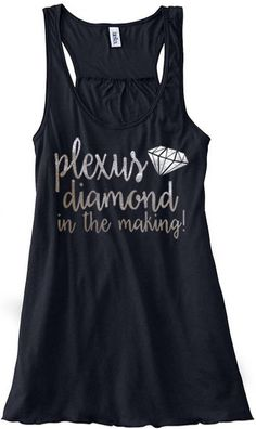 Believe in YOURSELF with this this flowy, lightweight tank! You can make it to DIAMOND! Perfect for the gym or just running errands. This tank is screen printed in metallic silver. ...................