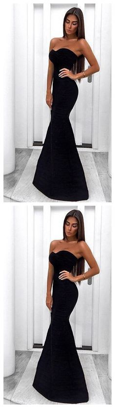 I love simple clothing,Nice,Timeless gorgeous and styled . A Line Prom Dresses, Mermaid Prom Dresses, Party Dresses, Evening Party Gowns, Evening Dresses, Mermaid Sweetheart, Black Prom, Simple Outfits, Dress Long