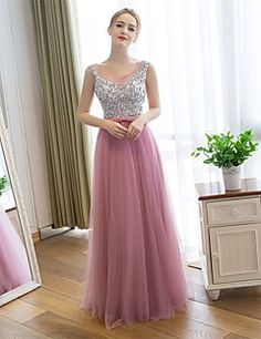 Cocktail+Party+/+Formal+Evening+Dress-Pearl+Pink+Sheath/Colu...+–+USD+$+89.99