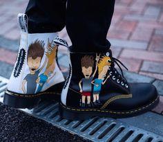15c7939c0dd DR. MARTENS X BEAVIS   BUTT-HEAD · Llomotes wears the Beavis   Butt-head  Pascal boots. Shoe Art