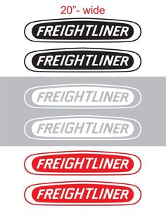 "2pcs 20"" FREIGHTLINER Vinyl Sticker Decal Graphic COLUMBIA CASCADIA SEMI TRUCK #Oracal"