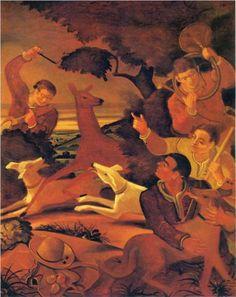 André Derain (French: 1880‑1954) - Deerstalking -1938