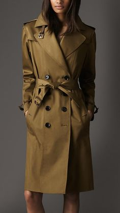 Burberry Trench. Can't get more classic than that.