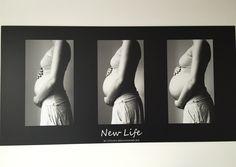 9 maanden zwangerschap fotocollage