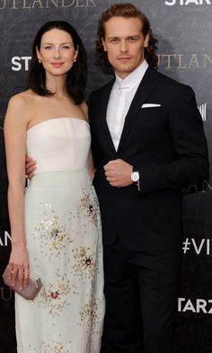 Outlander's Sam Heughan and Caitriona Balfe Smolder the Hell Out of the Red…