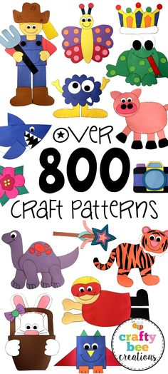 If you love making crafts out of construction paper, then this is a site you need to check out! There are now over 1000 patterns to choose from and work on with your kiddos at home or in the classroom. The patterns are easy to use, kid-friendly, and fun! You can download the patterns, print them at home, and then cut and glue to complete!