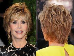 coiffure Sophie Davant sur cheveux blonds, coupe courte et brushing naturel