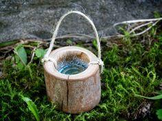 Miniature Wooden Bucket Fairy Garden Accessory by Smallhavens
