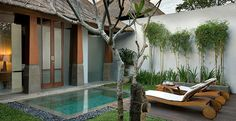 A small pool can also fit in a small house