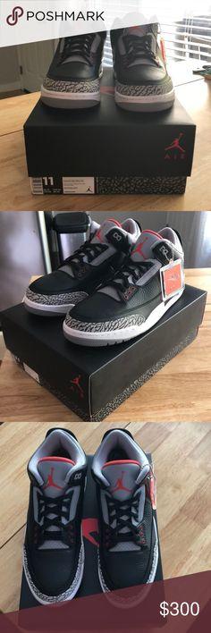 f1e8730154aae2 Nike Air Jordan 3 Retro OG Black Cement Deadstock Nike Air Jordan 3 Retro OG  Black