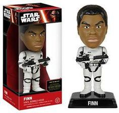 From Star Wars: Episode VII – The Force Awakens comes Finn in Stormtrooper armor as a bobble head! A trained warrior desperate to escape his past, Finn is plunged into adventure as his conscience drives him down a heroic, but dangerous, path. This Star Wars: Episode VII – The Force Awakens Stormtrooper Gear Finn Bobble Head measures 7-inches tall and comes with a decorative Star Wars stand.