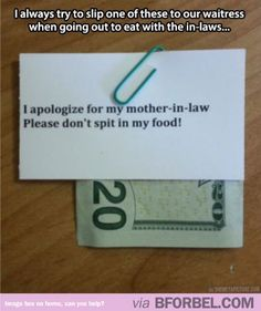 How to deal with your mother in law's mean-ness…