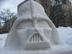 Darth Snow Sculpture