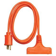 Coleman Cable 04004 6' 14/3 3-Way Power Block Multi-Outlet Extension Cord