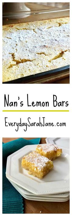 A family favorite dessert! Sweet, gooey lemon bars are a perfect treat!