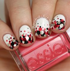 Its never too early for a Valentines Day manicure, right?! Well, todays nail art look isnt...