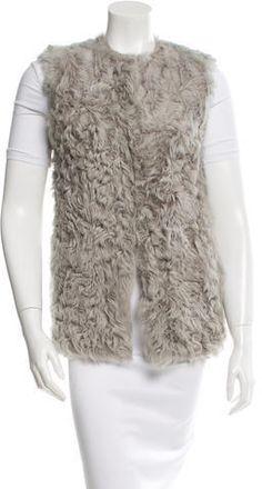 Diane von Furstenberg Fur Crew Neck Vest
