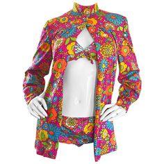 Rare Sirena for I Magnin 3 Piece Retro Vintage Bikini Swimsuit Set Mod For Sale 60 Fashion, Fashion Tips For Women, Retro Fashion, Vintage Fashion, Fashion Outfits, 1960s Outfits, Vintage Outfits, Hippie Style, Surf Style