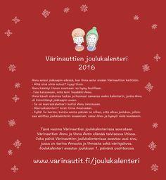 Joulukalenteri, joka päivä tarina ja värityskuva Christmas, Kids, Classroom, Advent Calendar, Natal, Toddlers, Xmas, Boys, Class Room