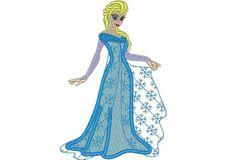 Frozen Elsa queen -  machine embroidery appliqué designs - 5x7