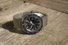 "My beautifull Omega Seamaster 120m nick named ""Deep Blue"" on an Omega Mesh. Notice how the dial does not say ""120M"""". Dit watch was actually sold this way according to a period Omega booklet! I sold it though and wander how long it will be for I decide to get another..=os"