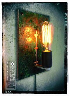 Vintage Wandlampen - CopperLight, minimal. WandLeuchte (EdisonBulb) - ein Designerstück von BrainstormDesign bei DaWanda