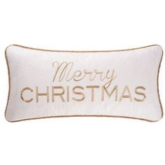 Cf Multi Merry Christmas Throw Pillow ($48) ❤ liked on Polyvore featuring home, home decor, holiday decorations, multi, holiday decor and holiday home decor