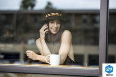 Window, cafe, coffee-cup, female, smile, beautiful, sexy, smartphone, millennial authentic stock photos from the millions of real-world images at Twenty20.