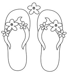 Flip Flop Coloring Pages Free Printable Free - Coloring For Kids 2019 Summer Coloring Pages, Coloring For Kids, Colouring Pages, Free Coloring, Adult Coloring Pages, Coloring Books, Thema Hawaii, Deco Surf, Flip Flop Craft