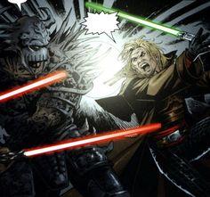 Cade Skywalker im Kampf gegen Darth Krayt  - http://www.jedipedia.net/wiki/Darth_Krayt
