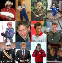 The Evolution of Prince Harry. From infancy to adulthood ❤