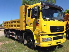 Xe tải ben 4 chân Dongfeng 300HPthùng cao 860mm