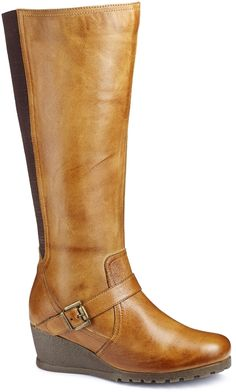 Wedge brown boots Brand new fall wedge boots !!!!!wide calf ...