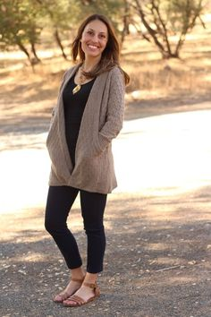 How great would this be in the chilly weather! xoxo SLC  Brixon Ivy Lawley Cable Knit Open Cardigan
