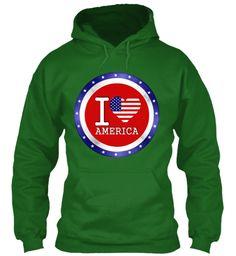 I Love America  Limited Edition! Irish Green T-Shirt Front