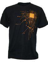 SODAtees Men's COMPUTER CPU CORE HEAT Geek T-Shirt