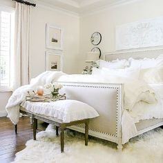 Styled for Spring Home Tour Part 2 - Elegant Ruffle and Lace Spring Master Bedroom how to style your room for spring using fresh linens and flowers