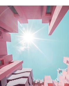 "1,142 Likes, 7 Comments - Kelly Behun (@kellybehunstudio) on Instagram: ""Same duo, different angle - this time looking up - at Muralla Roja (The Red Wall) by Ricardo Bofill…"""