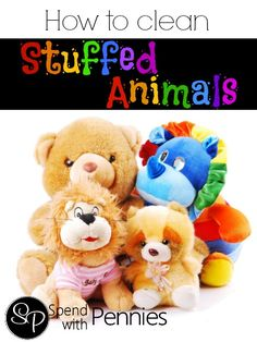 How to Clean Stuffed Animals!