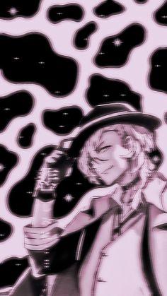 Chuuya Nakahara, Soft Wallpaper, Bongou Stray Dogs, Pastel Goth, Aesthetic Anime, Holi, Walls, Purple And Blue, Colors