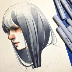 Fuck Yeah Illustrative Art! • elfandiary: finecolour marker mix with 8B pencil...