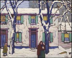 """""""Winter in the Ward"""" by Lawren Harris. Thursday, Nov. 26, 2015 at the Heffel Fine Art Auction House fall sale in Toronto-(fetched just over $1.1 million)"""