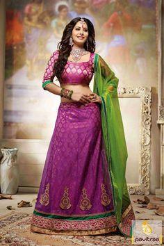 Pavitraa Dark #Pink include #Green Designer #Lehenga Choli