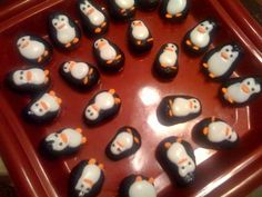 Oreo truffle penguins