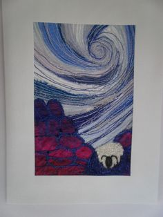Stormy Weather Textile Art by wendieshouse on Etsy