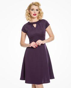 'Juliet' Purple Tea Dress