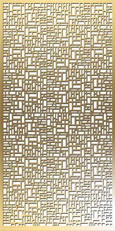 Modern Brass Mashrabiya